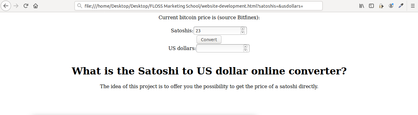 Our HTML page