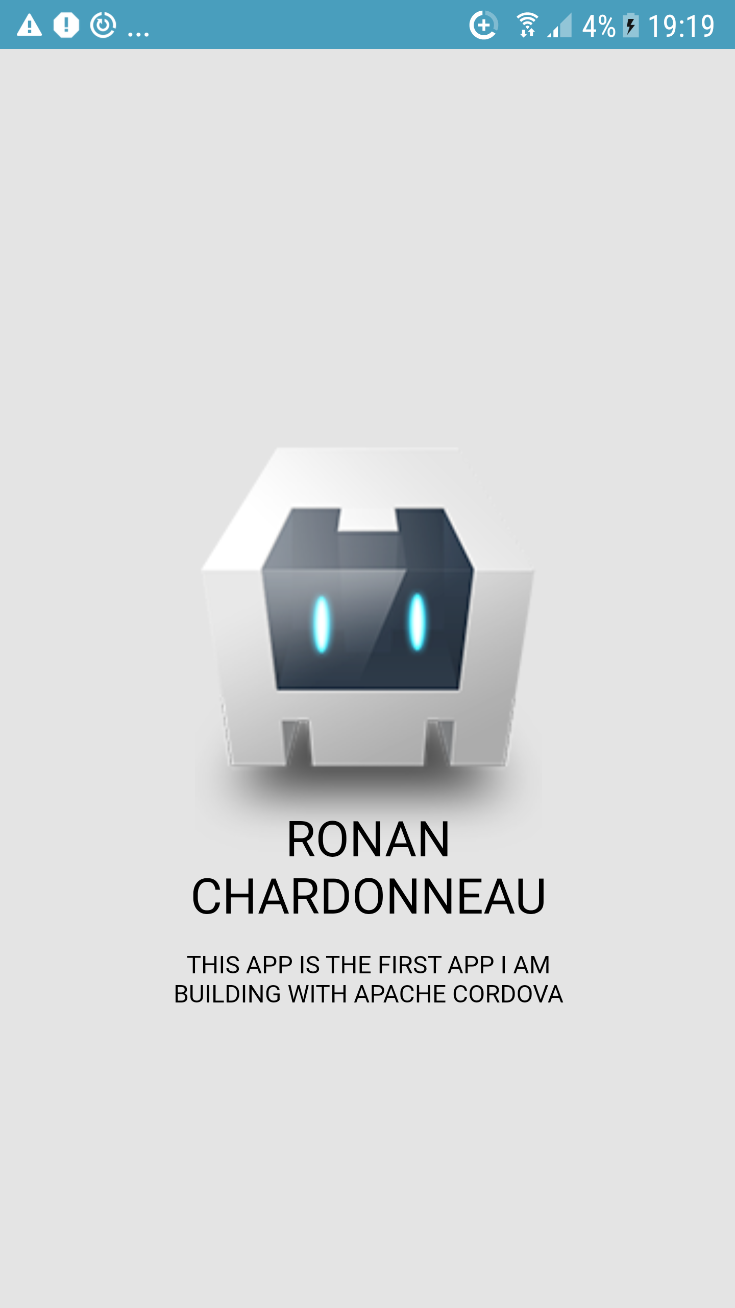 My first app built on Apache Cordova